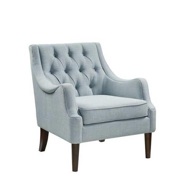 "Galesville 29.25"" W Polyester Linen Armchair / Dusty Blue - Wayfair"