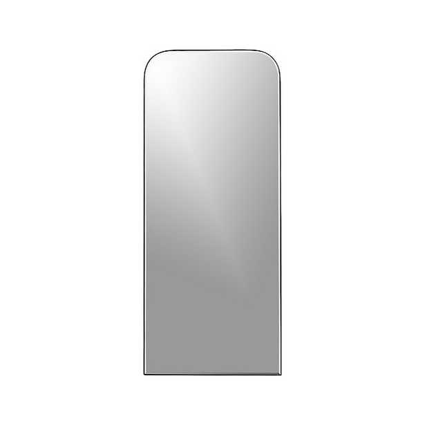 Edge Gunmetal Arch Floor Mirror - Crate and Barrel