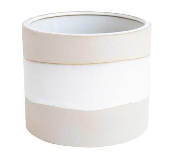NATURAL & WHITE POT - McGee & Co.