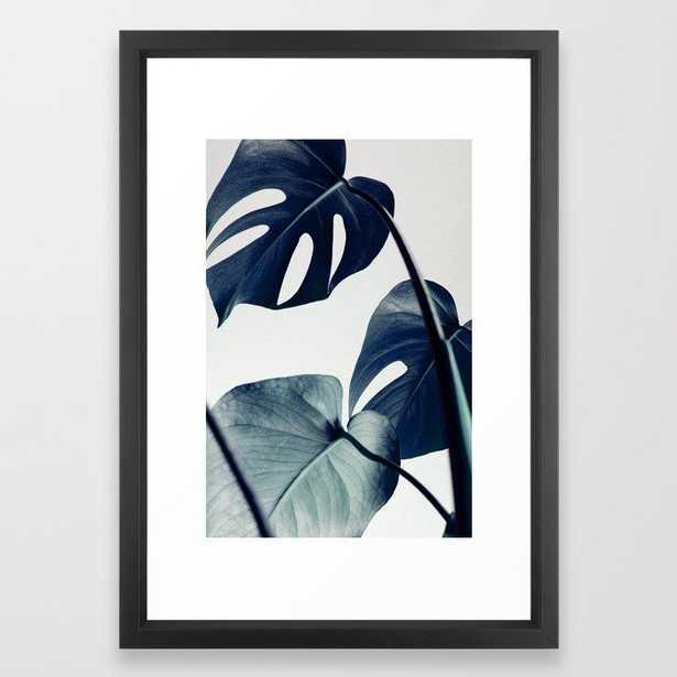 Botanical Vibes II FRAMED ART PRINT BLACK VECTOR FRAME - Society6