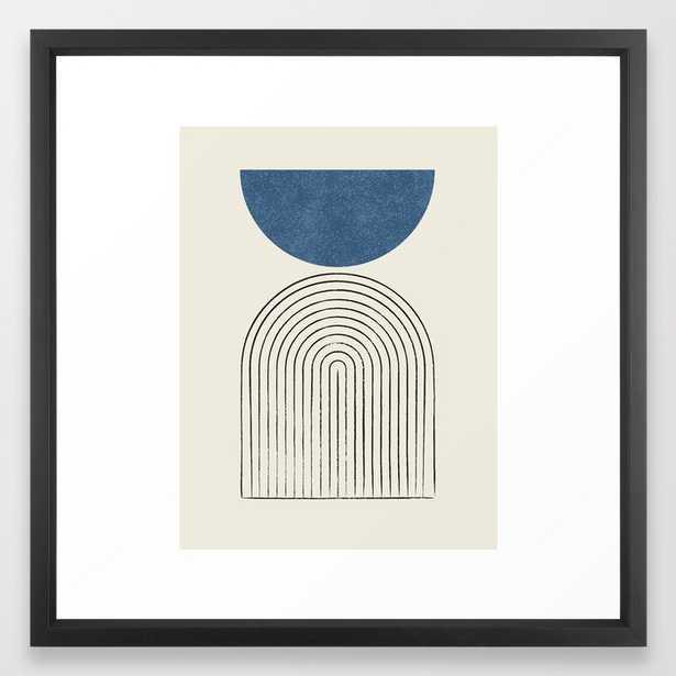 Arch Balance Blue Framed Art Print - Society6