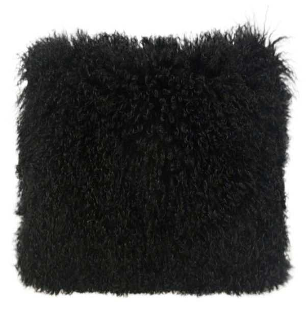 """Milan Pillow, 20""""x 20"""", Black - Studio Marcette"""