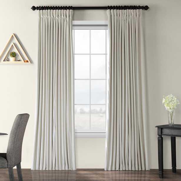 Rhinehart Extra Wide Velvet Solid Blackout Thermal Rod Pocket Single Curtain Panel - Wayfair