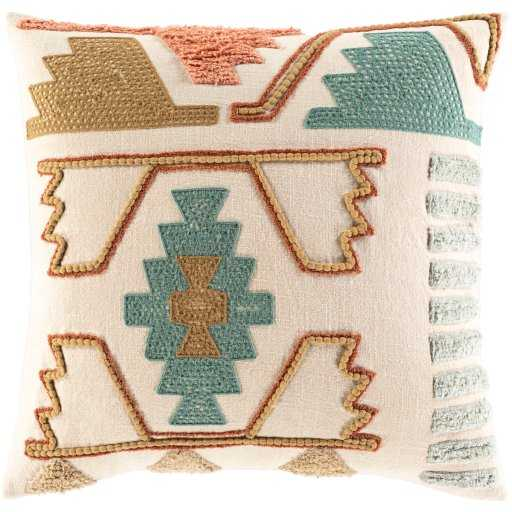 """Zahra Pillow, 18""""H x 18""""W Pillow Shell with Polyester Insert - Roam Common"""