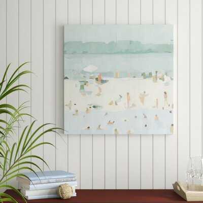 'Sea Glass Sandbar I' Painting on Canvas - Wayfair