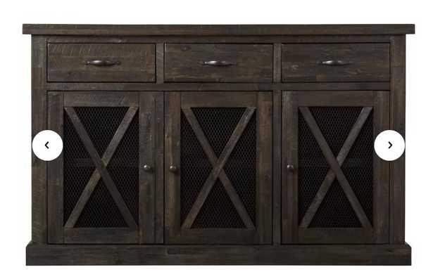 Colborne  3 drawer Acacia wood Sideboard - Wayfair