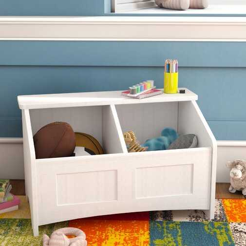 Christiana Toy Box with Section Divider - Wayfair