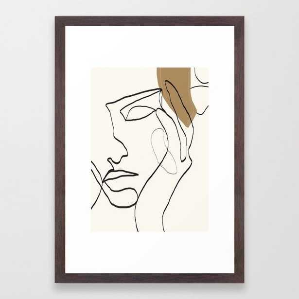 Abstract Face Framed Art Print - Society6