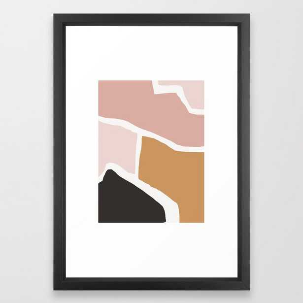 Rheia - earthtones minimal abstract art print Framed Art Print - Society6