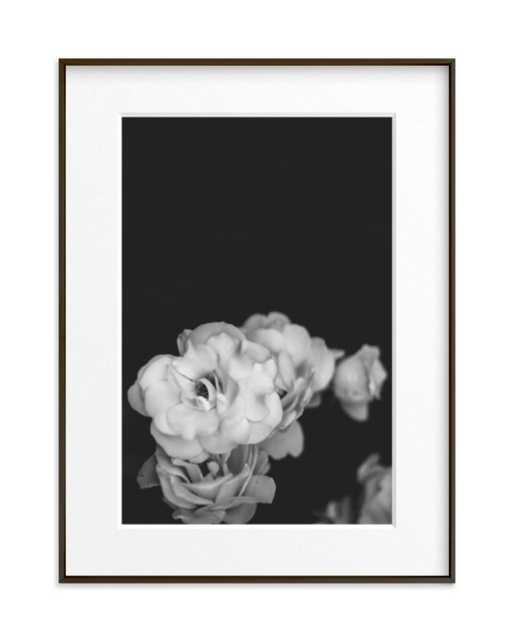 "midnight bloom - 18"" x 24"" - Matte Black Frame - Matted - Minted"