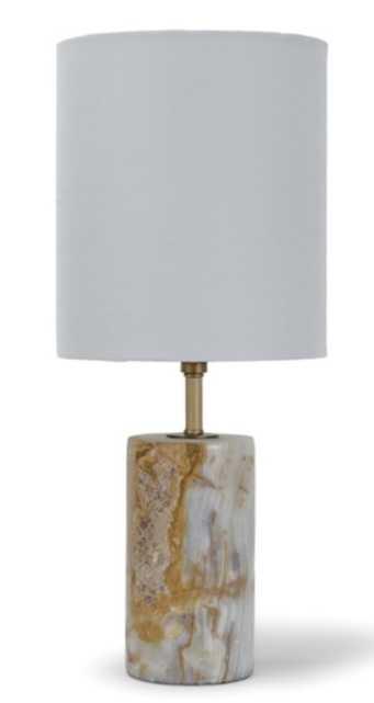 KIRSTINE TABLE LAMP, CARAMEL - Lulu and Georgia