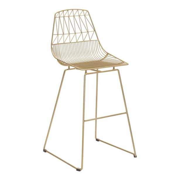 Brody Bar Chair Gold, Set of 2 - Zuri Studios
