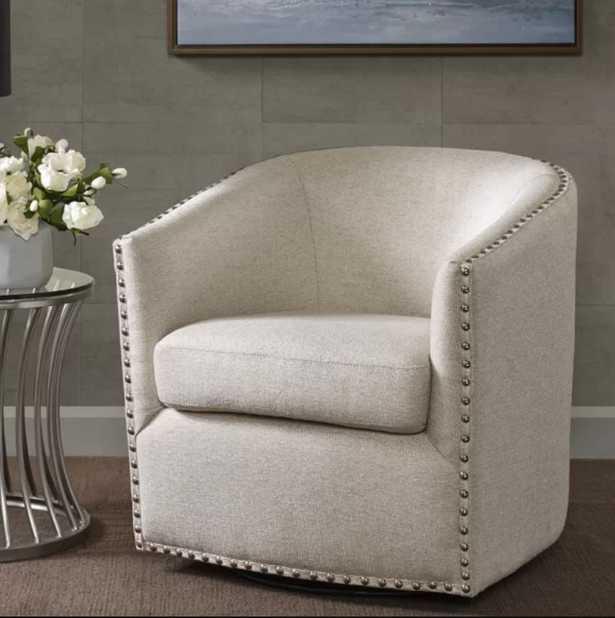 Leominster Swivel Barrel Chair - Birch Lane