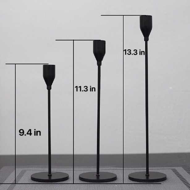 3 Piece Metal Tabletop Candlestick Set - Wayfair