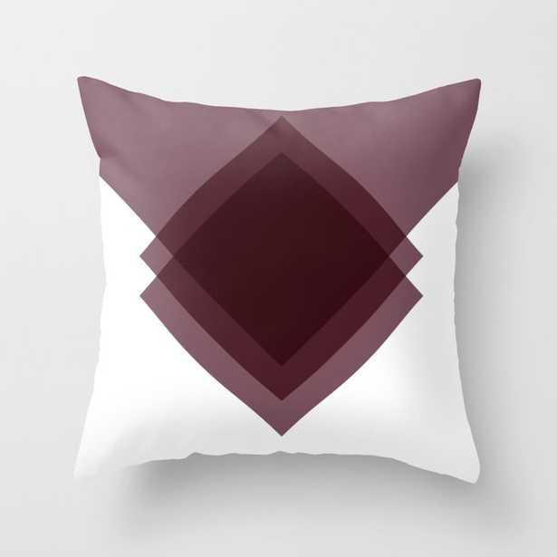 Modern Geometric Art Deco Burgundy Indoor Throw Pillow - Society6