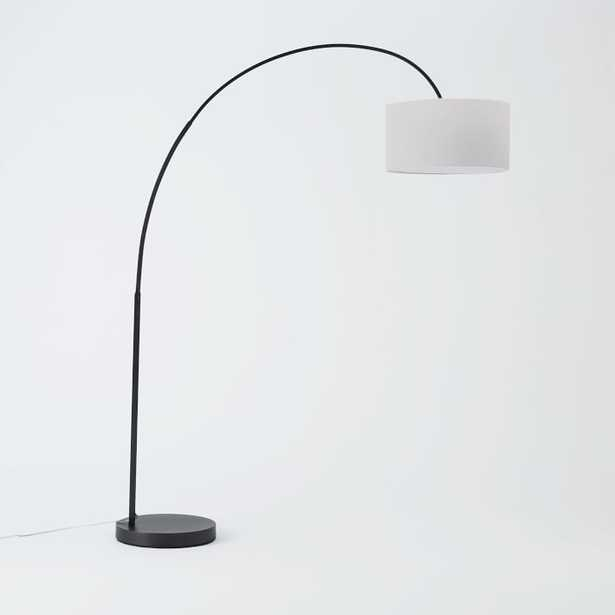 Overarching Floor Lamp Antique Bronze/White - West Elm