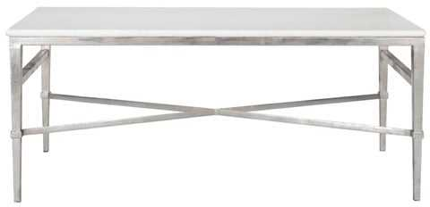 Acker Marble Cocktail Table - White - Arlo Home - Arlo Home