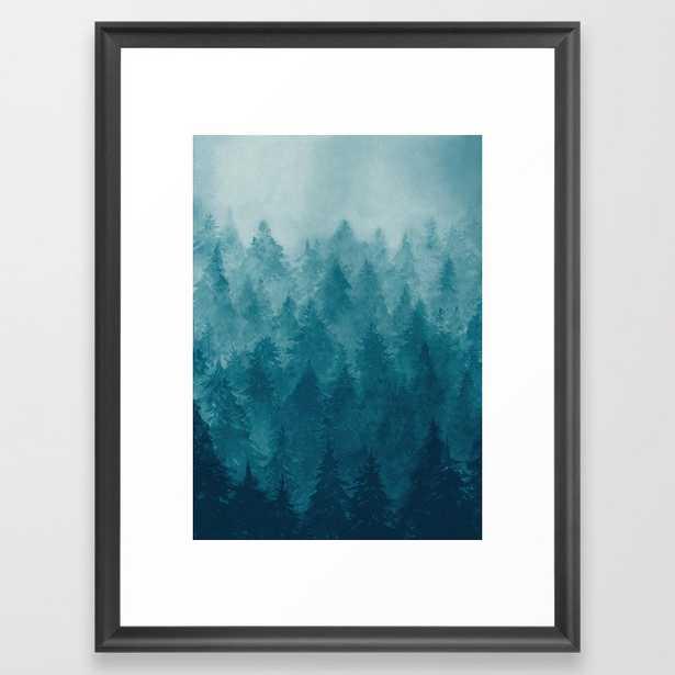 Misty Pine Forest Framed Art Print - Society6