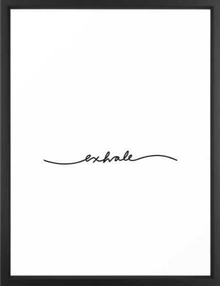 exhale Framed Art Print - Society6
