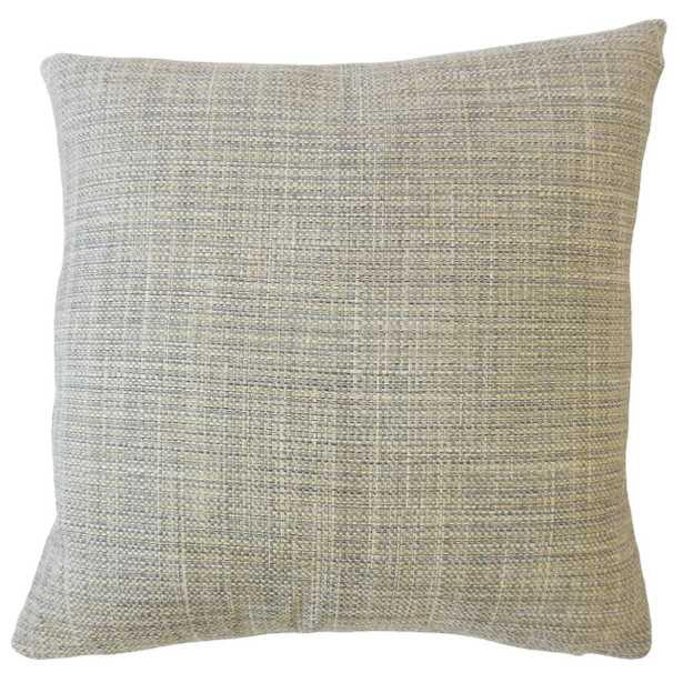 "Textured Linen Pillow, Granite, 20"" x 20"" with down insert - Havenly Essentials"