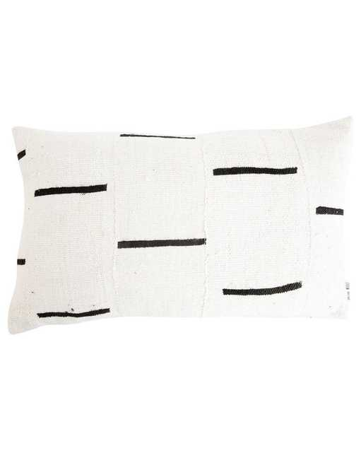 """INDU PILLOW WITH INSERT, 12"""" x 20"""" - McGee & Co."""