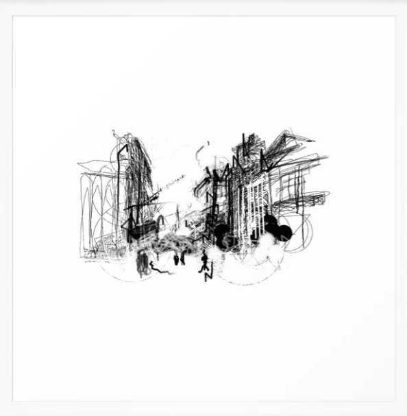 "Alchemy Sketch - City - 22"" x 22"" - Scoop White Frame - Society6"