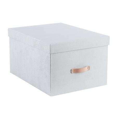 Bigso Grey Woodgrain Storage Boxes, Bigso Woodgrain Bold Box Grey - containerstore.com
