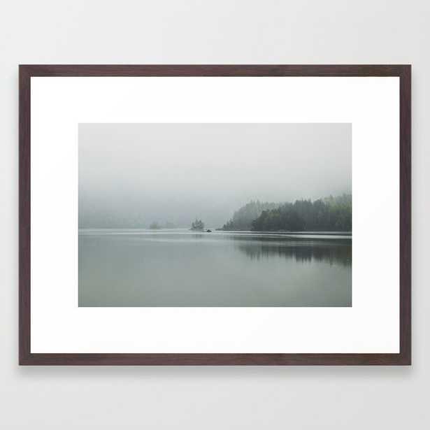 Fog - Landscape Photography Framed Art Print - 20 x 26 - Society6