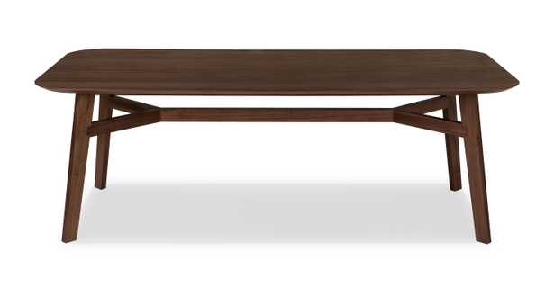 Ventu Matte Walnut Dining Table for 8 - Article