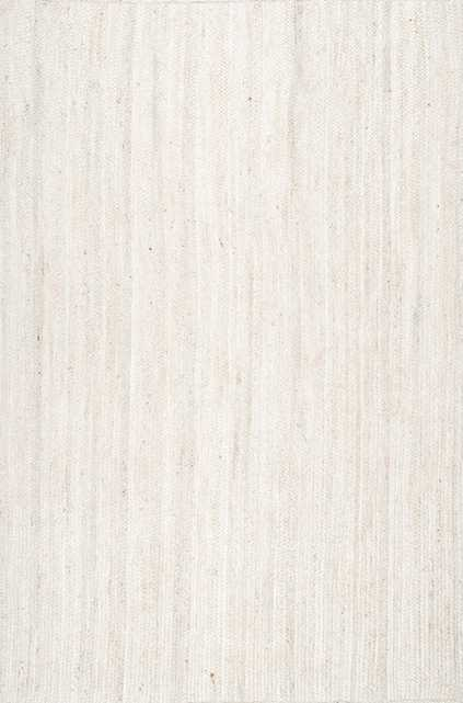 Hand Woven Rigo Jute rug / Off White/ 8'x10' - Loom 23