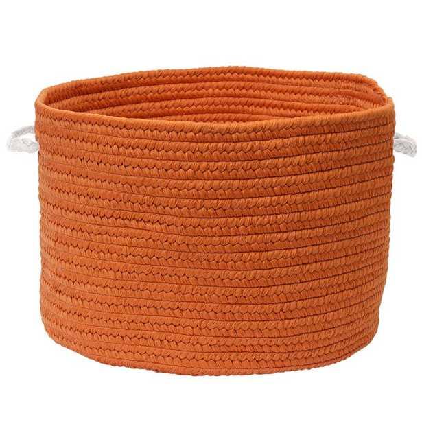 Colorful Braided Toy Polypropylene Basket - Orange - 20 x 20 - Wayfair