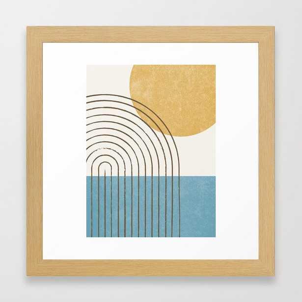Sunny ocean Framed Art Print - Society6