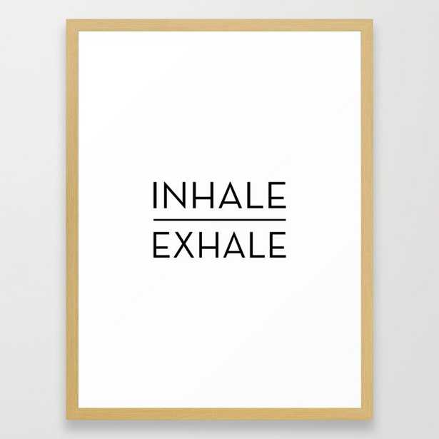 Inhale Exhale Breathe Quote Framed Art Print - Society6