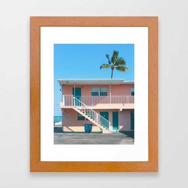 The Breezy Palms Framed Art Print - Society6