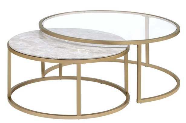 Anyan 2 Piece Coffee table - Wayfair