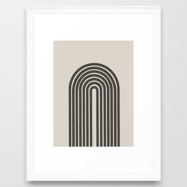 Rainbow Art, Geometric Mid Century - Scoop White - 20x26 - Society6