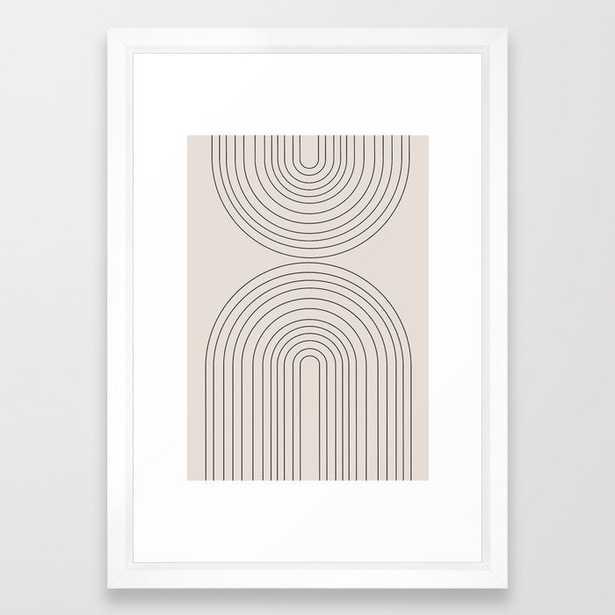 """Arch Art Framed Art Print, 15"""" x 21"""", Vector white frame - Society6"""