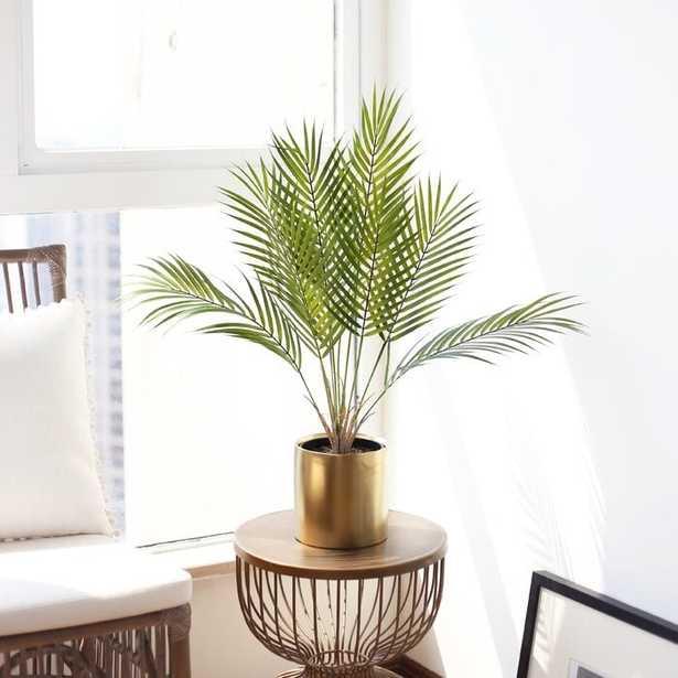 Artificial Areca Palm Plant in Ceramic Vase - Wayfair