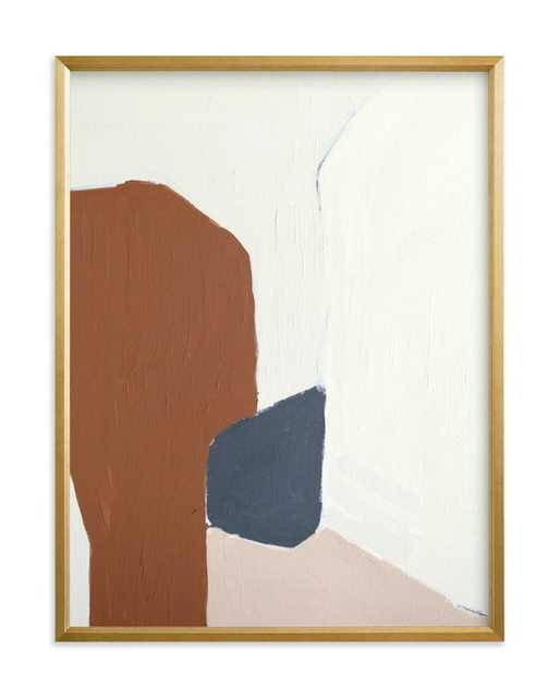 Terrazzo Limited Edition Art: Gold Frame - Minted