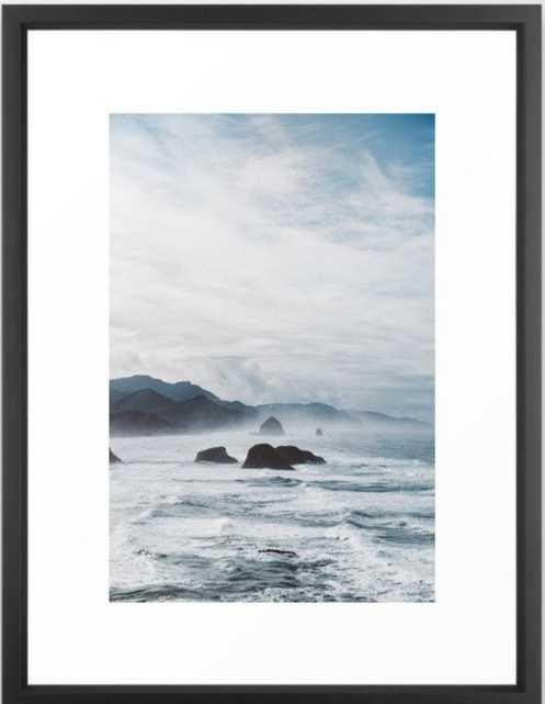 Mist Over Cannon Beach Framed Art Print - Society6