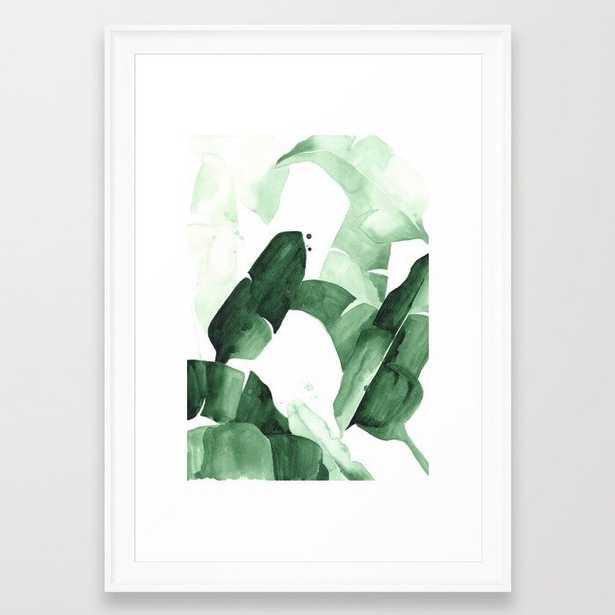 """Beverly I Framed Art Print, 15""""x 21"""" -scoop white - Society6"""