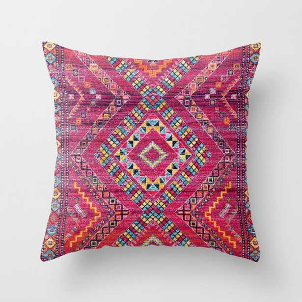 27 N118 - Pink Colored Oriental Traditional Bohemian Moroccan Artwork. Throw Pillow - Society6
