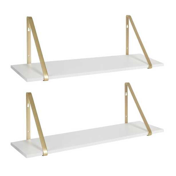 Mcmartin Wooden 2 Piece Bracket Shelf Set (Set of 2) - Wayfair