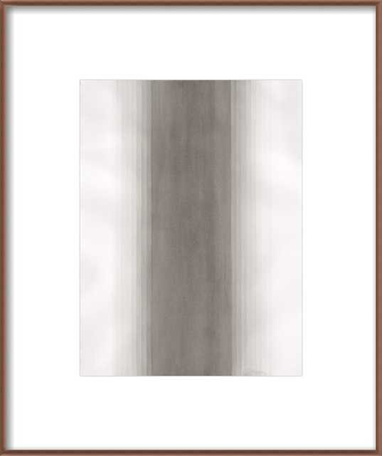 River - Distressed cream double bead wood frame  20x24 - Artfully Walls