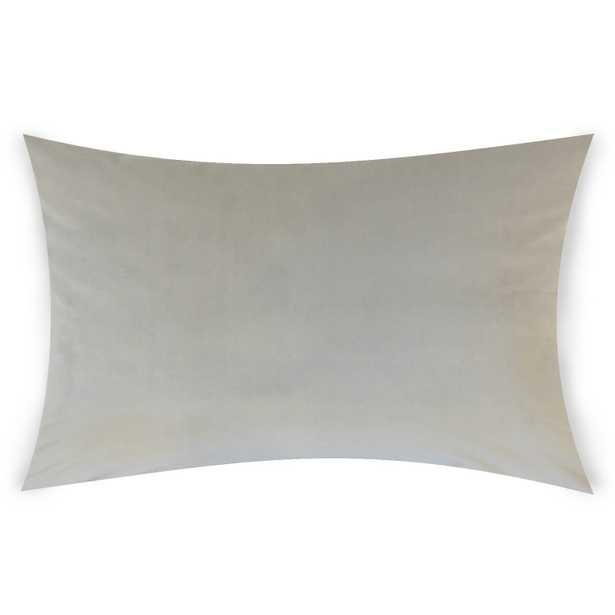 "Classic Velvet Pillow, Smoke, 12"" x 18"" Lumbar - Havenly Essentials"
