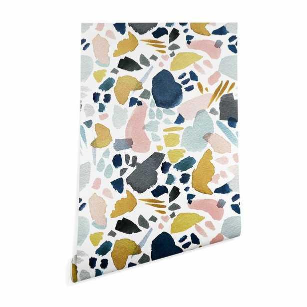 Cressey Stephanie Corfee Watercolor Mosaic Smooth Peel and Stick Wallpaper Panel - Wayfair