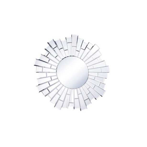 Naoma Modern Sunburst Glass Accent Mirror - Wayfair