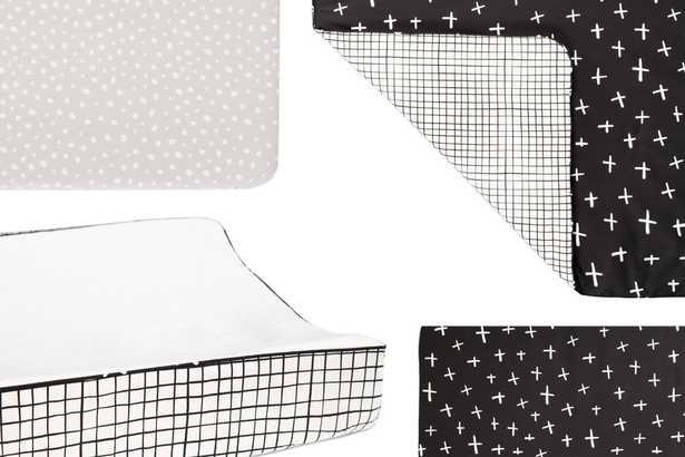 babyletto Tuxedo Monochrome Nursery 5 Piece Crib Bedding Set - Perigold