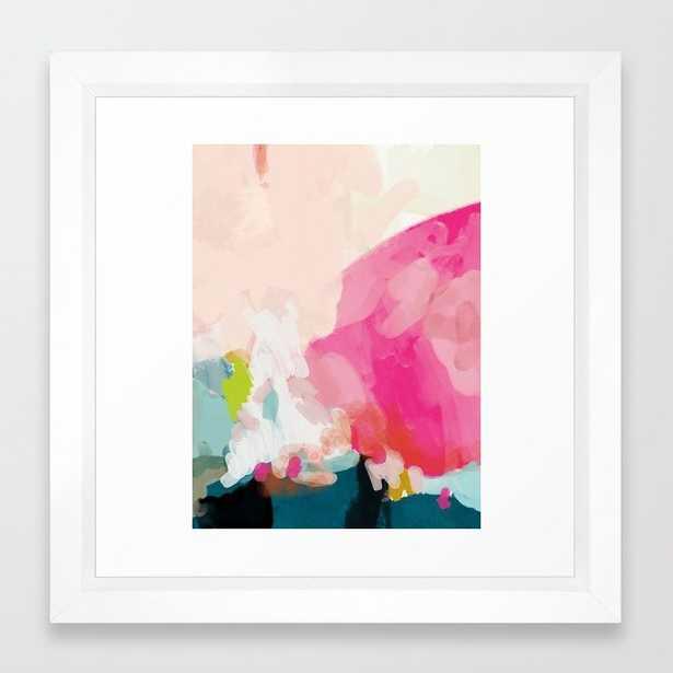 pink sky Framed Art Print - 12x12 - vector white frame - Society6