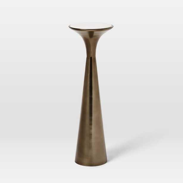 Silhouette Drink Table, Marble/Metal - West Elm